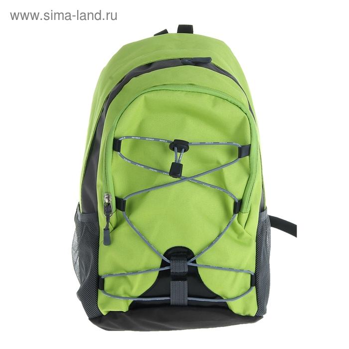 """Рюкзак молодёжный """"Мини"""", 1 отдел, наружный карман, 2 боковых кармана, цвет зелёный"""