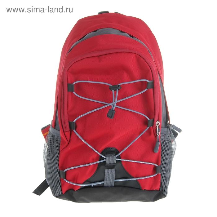 """Рюкзак молодёжный """"Мини"""", 1 отдел, наружный карман, 2 боковых кармана, цвет красный"""