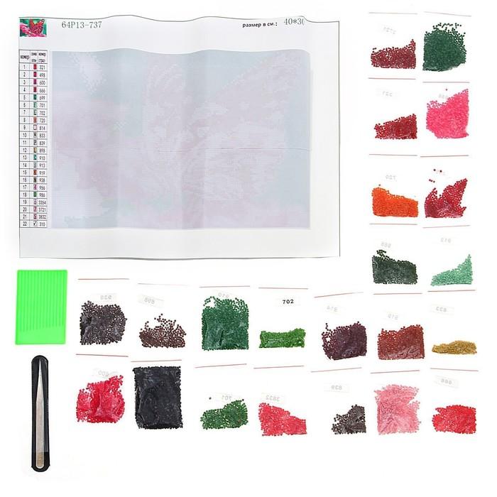 """Алмазная вышивка с полным заполнением """"Бабочка"""", 22 х 32 см - фото 108250334"""