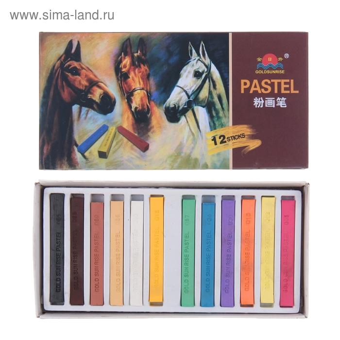 Пастель художественная профессиональная сухая 12цв в картонной коробке