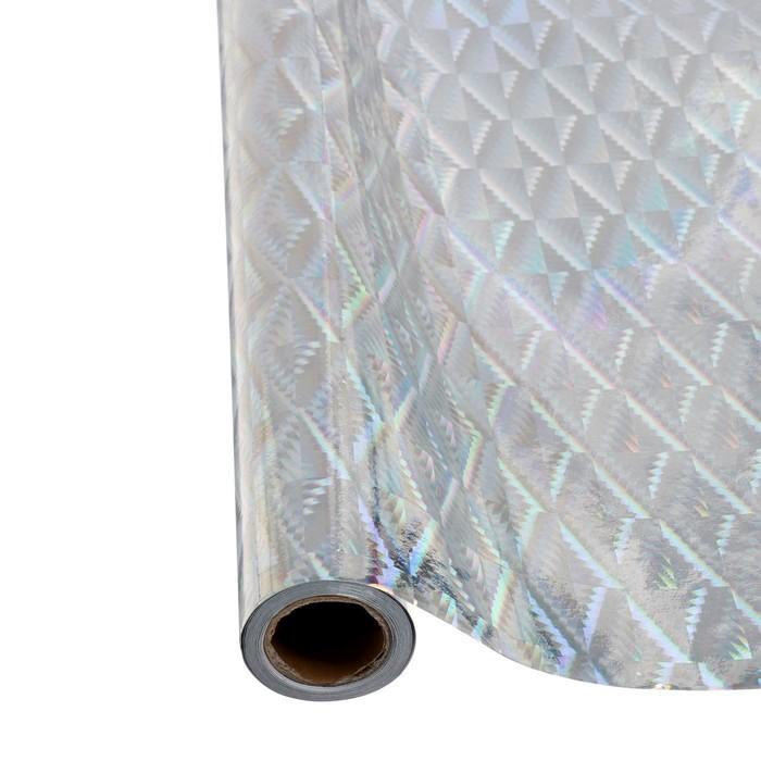 Пленка самоклеящаяся голография серебро 0,45м х3м 3мкр
