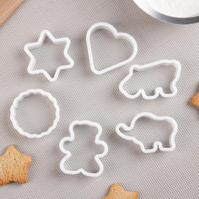 Набор форм для печенья Доляна «Ассорти», 6 шт - фото 308034370