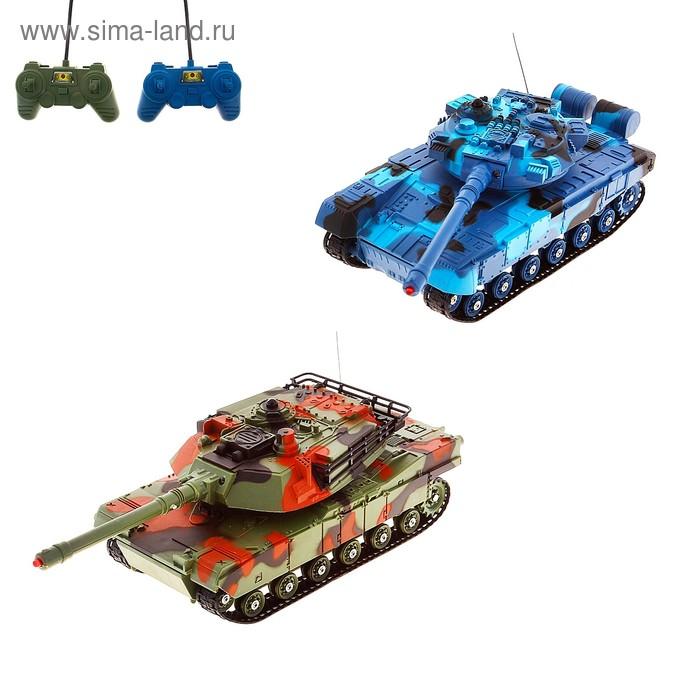 """Танковый бой """"Военная стратегия"""", на радиоуправлении, в наборе 2 танка"""