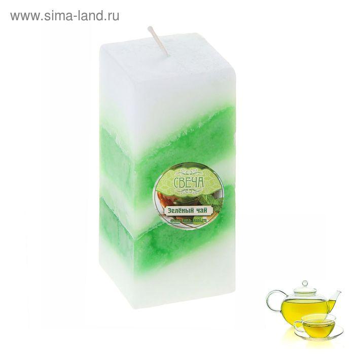 """Свеча восковая """"Полоска"""", аромат зелёный чай"""