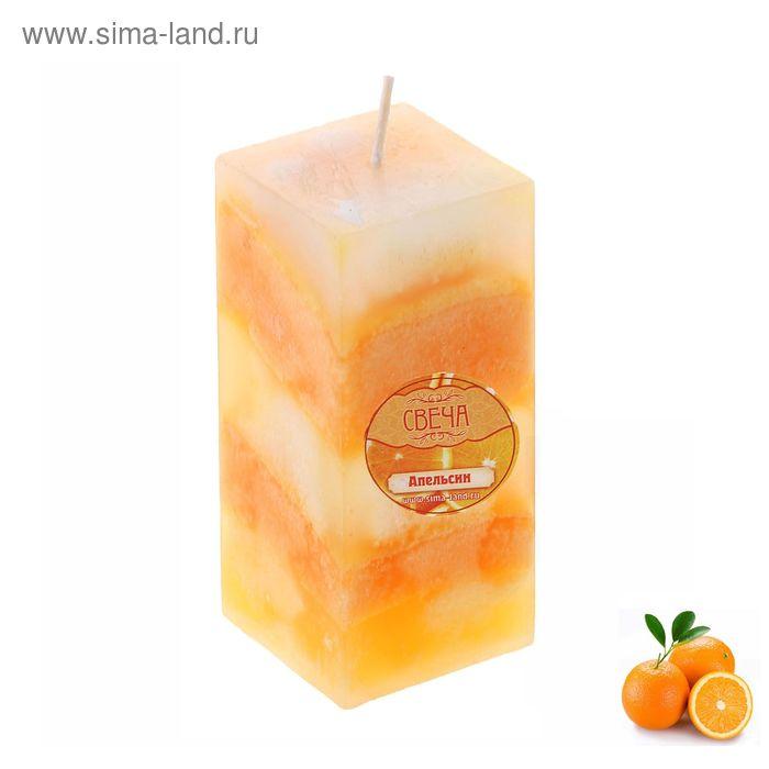 """Свеча восковая """"Полоска"""", аромат апельсин"""