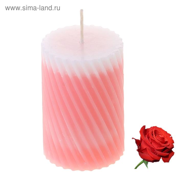 """Свеча восковая """"Спираль"""", аромат роза"""