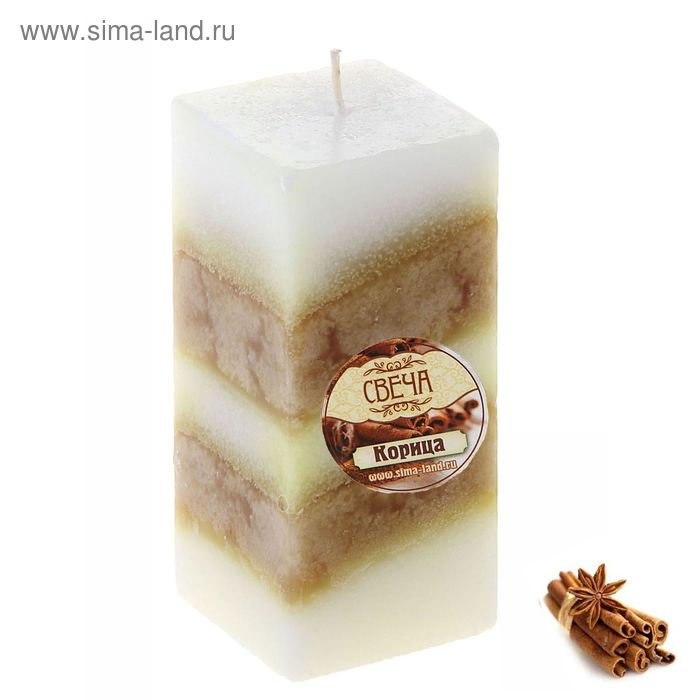 "Свеча восковая ""Полоска"", аромат корица"
