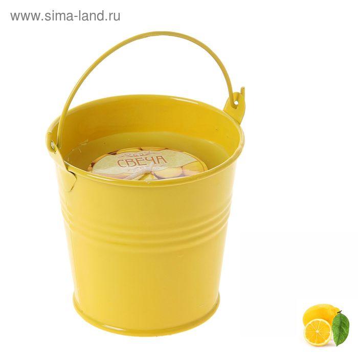 """Свеча восковая """"Ведёрко"""", аромат лимон"""