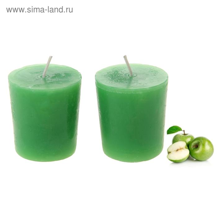 """Свечи восковые (набор 2 шт) """"Столбик"""", аромат яблоко"""