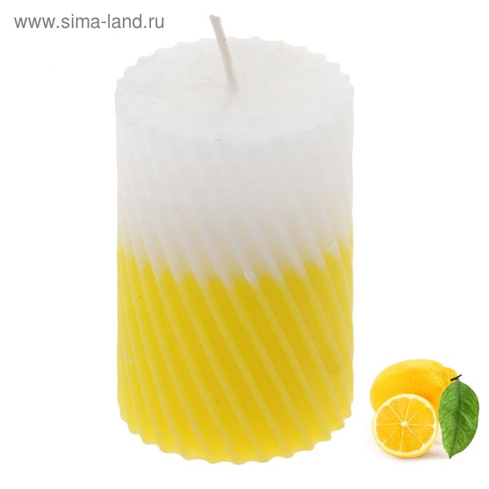 """Свеча восковая """"Спираль"""", аромат лимон"""