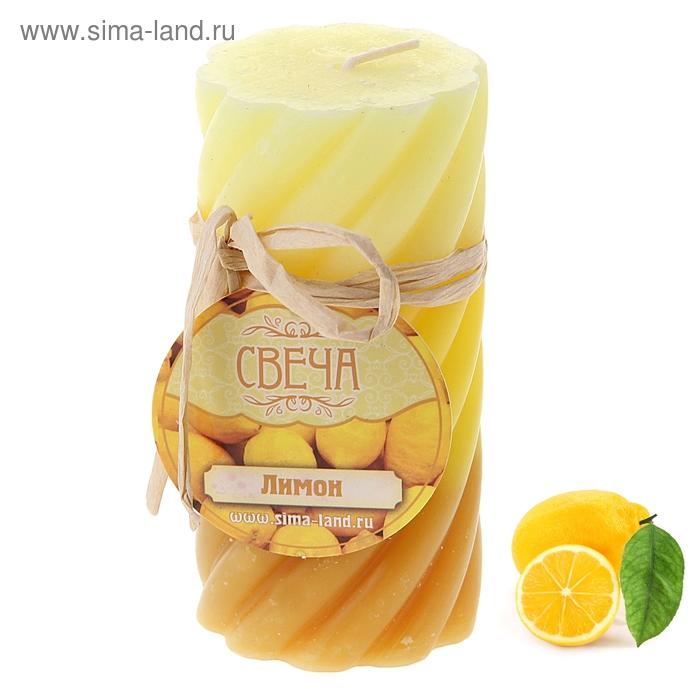 """Свеча восковая """"Волна"""", аромат лимон"""