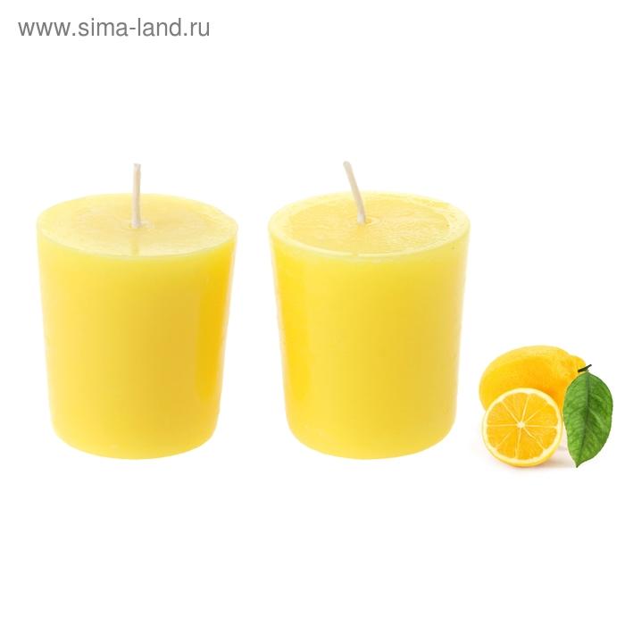 """Свечи восковые (набор 2 шт) """"Столбик"""", аромат лимон"""