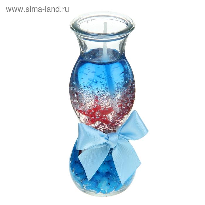"""Свеча гелевая """"Океан"""", цвет голубой"""