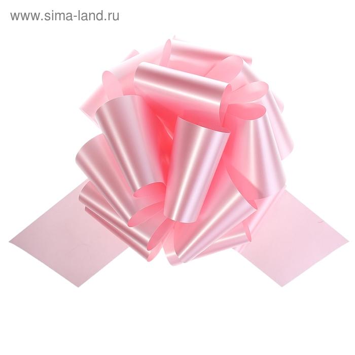 """Бант-шар №12 """"Глянец"""", цвет розовый"""