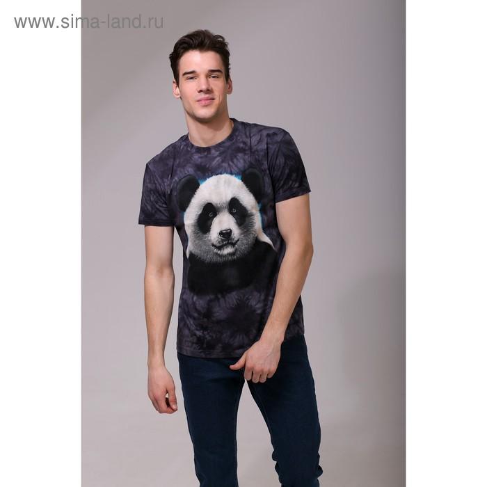Футболка мужская Collorista 3D Panda, размер L (48), цвет чёрный