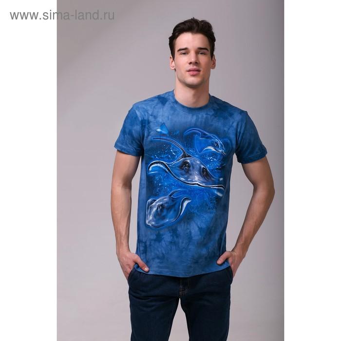 Футболка мужская Collorista 3D Skate, размер M (46), цвет синий