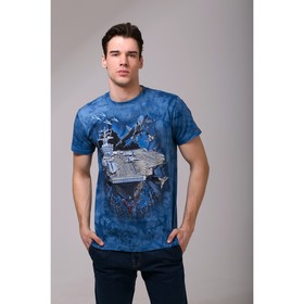 Футболка мужская Collorista 3D Force, размер XXL (52), цвет синий