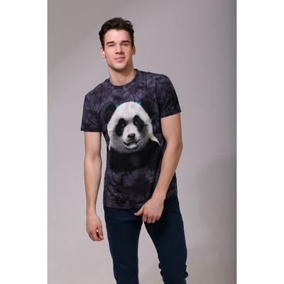 Футболка мужская Collorista 3D Panda, размер M (46), цвет чёрный