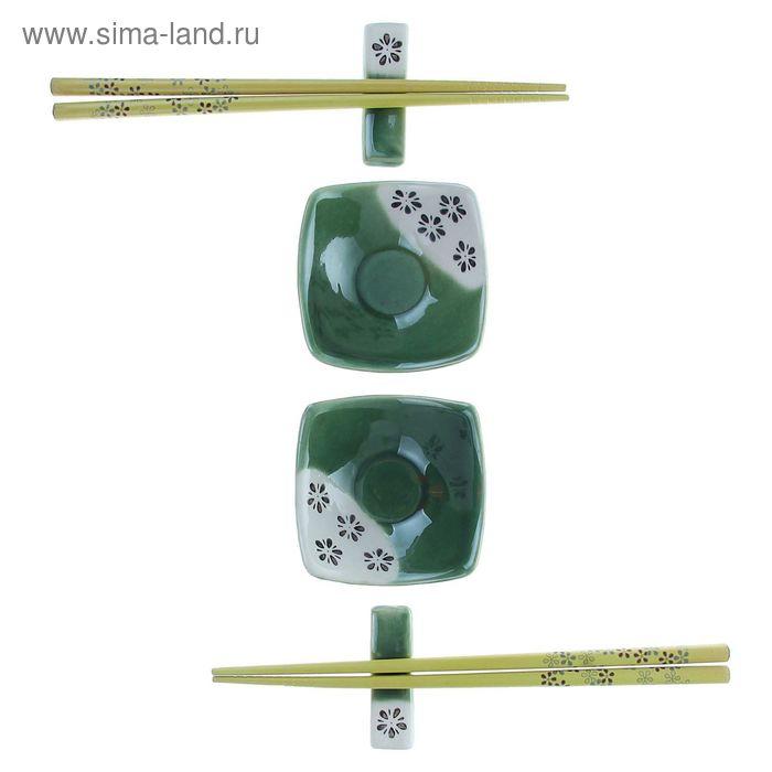 """Набор для суши 6 предметов """"Зелень"""""""