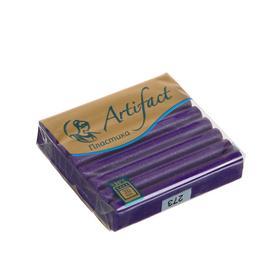 Пластика - полимерная глина 56г с блестками Фиолетовый