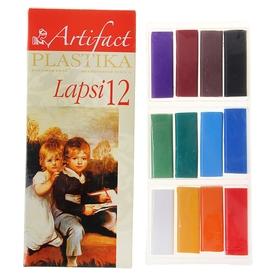 Пластика - полимерная глина набор LAPSI 12 классических цветов 240г