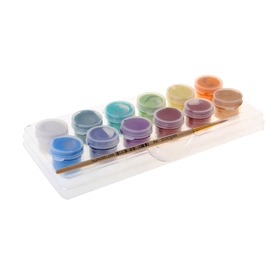 Acrylic paint, Pearl set, 12 colors, 3 ml each,