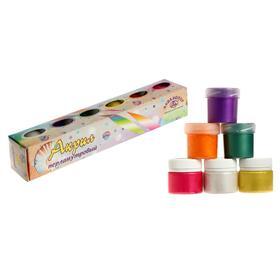 Краска акриловая, набор, 6 цветов х 20 мл, «Аква-Колор», морозостойкая, перламутровые