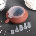 силиконовые емкости для крема с насадками