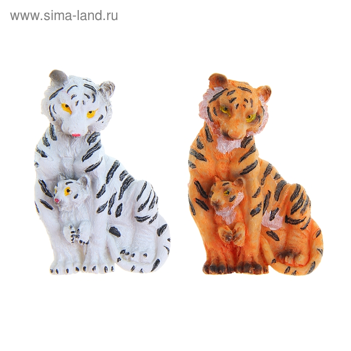 "Магнит ""Тигрица с тигрёнком"" МИКС"