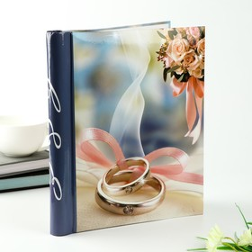 """Magnetic photo album 20 sheets """"Engagement rings on the ribbon"""""""