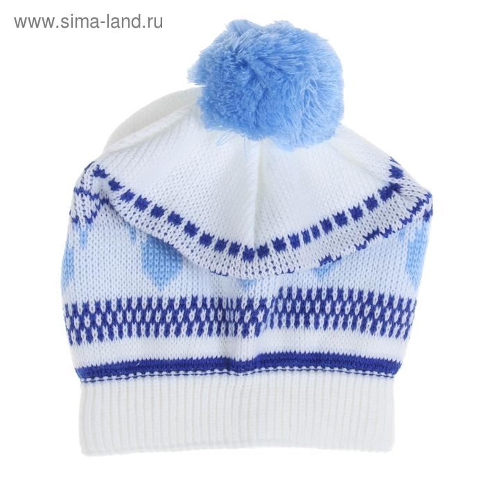 """Шапка-берет для девочки """"Жемчужина"""", возраст 3-5 лет, цвет голубой 181_Д"""