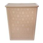 Корзина для белья с крышкой Natural Style, 35 л, 40×27×46 см, цвет МИКС - фото 4636970