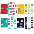 Ежедневник недатированный формат А6+, 100 листов, линия, обложка резиновая Пазлы МИКС