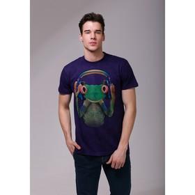 Футболка мужская Collorista 3D Frog, размер M (46), цвет фиолетовый