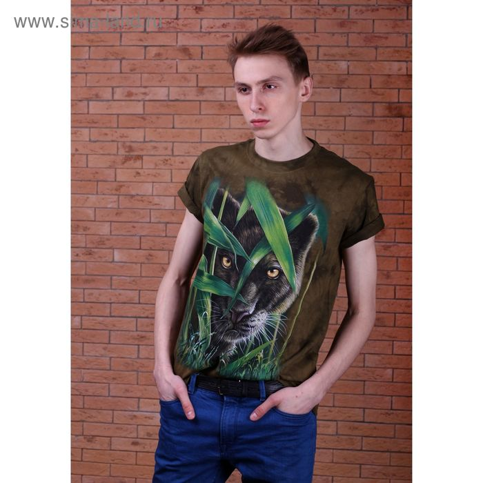 Футболка мужская Collorista 3D Panther, размер XXL (52), цвет зелёный