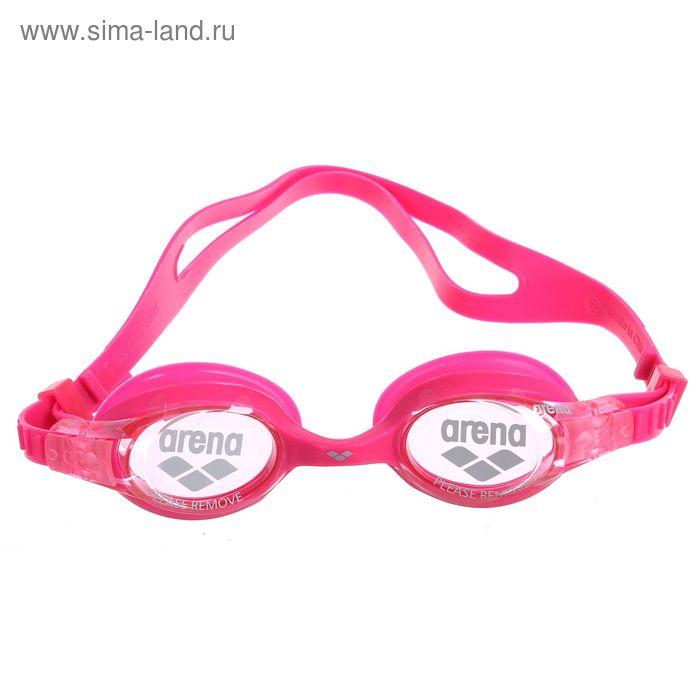 Очки для плавания детские ARENA X-lite Kids, розовые линзы, розовая оправа