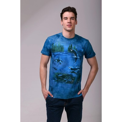 Футболка мужская Collorista 3D Ocean, размер XL (50), цвет синий