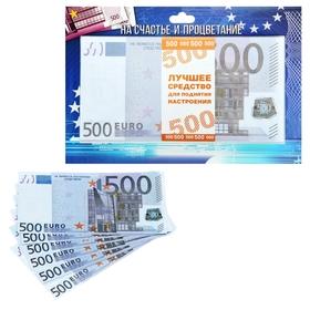 """Пачка купюр на подложке """"500 евро"""""""