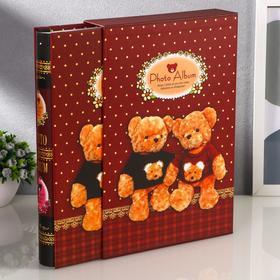 """Фотоальбом магнитный на 20 листов """"Счастливые медвежата"""" в коробке, МИКС"""