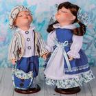 """Кукла коллекционная парочка поцелуйчики """"Саша и Саша"""" в наборе 2 шт"""