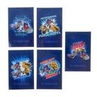 Блокнот А7, 48 листов на клею Angry Birds ТРАНСФОРМЕРЫ, 3-х цветный блок, 5 видов МИКС