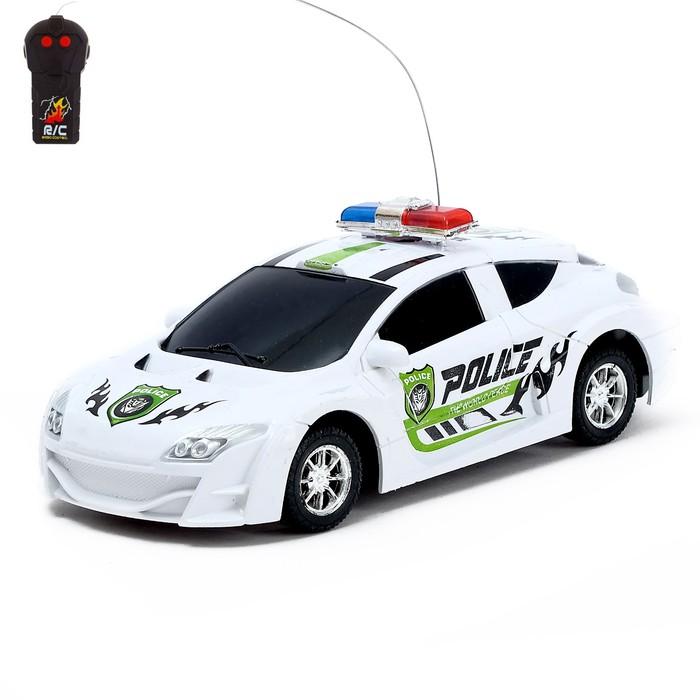 """Машина радиоуправляемая """"Полиция"""", работает от батареек, МИКС"""
