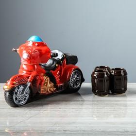 """Набор для вина """"Мотоцикл"""", 4 предмета в наборе, 0,95 л/0,1 мл, микс"""