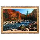 """Картина с подсветкой """"Пейзаж - Горная река"""" 112*75см - фото 937399"""