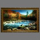 """Картина с подсветкой """"Пейзаж - Горная река"""" 112*75см - фото 937400"""