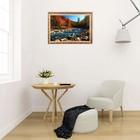"""Картина с подсветкой """"Пейзаж - Горная река"""" 112*75см - фото 937405"""