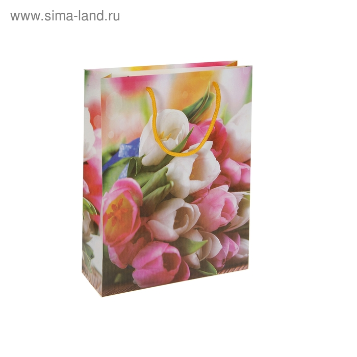 """Пакет пластиковый """"Тюльпаны для любимых"""""""