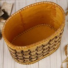 Хлебница плетёная, овальная, 27х18х22 см, береста - фото 880285