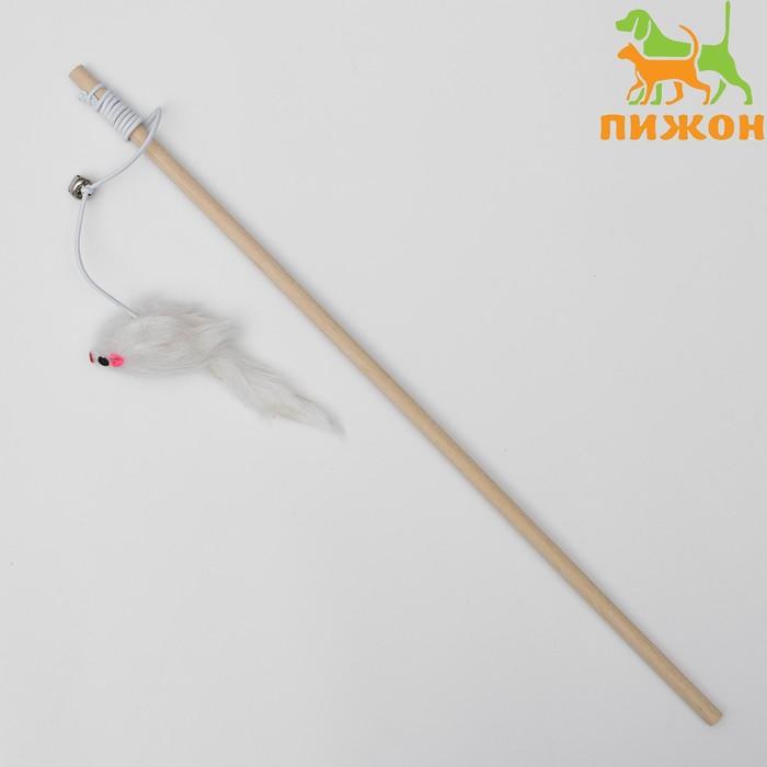Дразнилка Мышь на деревянной ручке, 36 см