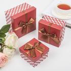 "Набор коробок 3 в 1 ""Событие"", коричневый, 13 х 13 х 7,5 - 9 х 9 х 5,5 см"